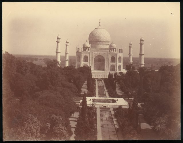 View of the Taj Mahal from the Gate, Agra