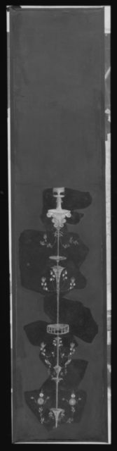 Wall painting on white ground: fragment with candelabrum, from the imperial villa at Boscotrecase
