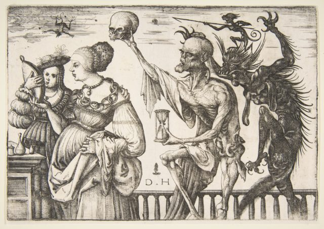 Woman and Attendant Surprised by Death