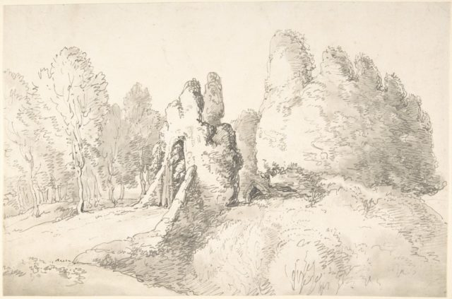Wooded Landscape with Ruins