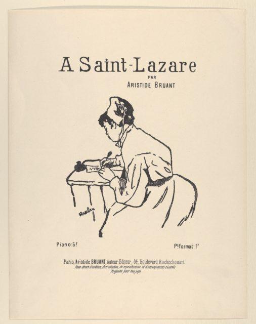 A Saint-Lazare par Aristide Bruant