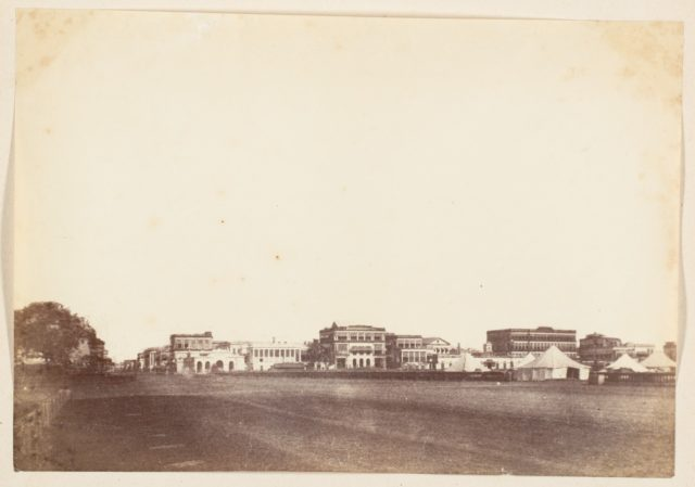 [A View in Calcutta Including the Buildings of Payne and Co., the Mountain Hotel, and Scott and Co.]
