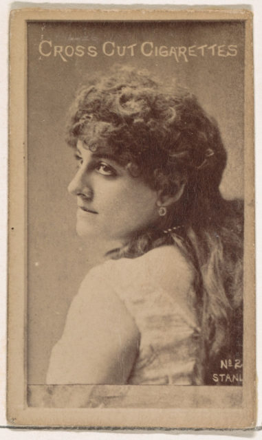 Alma Stanley, from the Actors and Actresses series (N145-1) issued by Duke Sons & Co. to promote Cross Cut Cigarettes