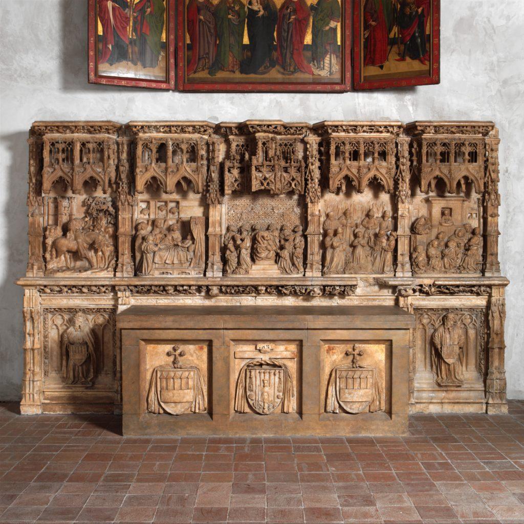 Altar Predella and Socle of Archbishop Don Dalmau de Mur y Cervelló