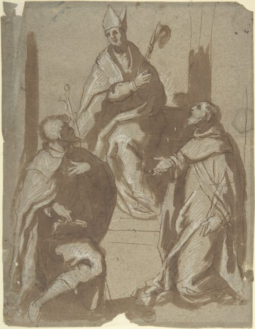 Bishop and Two Saints