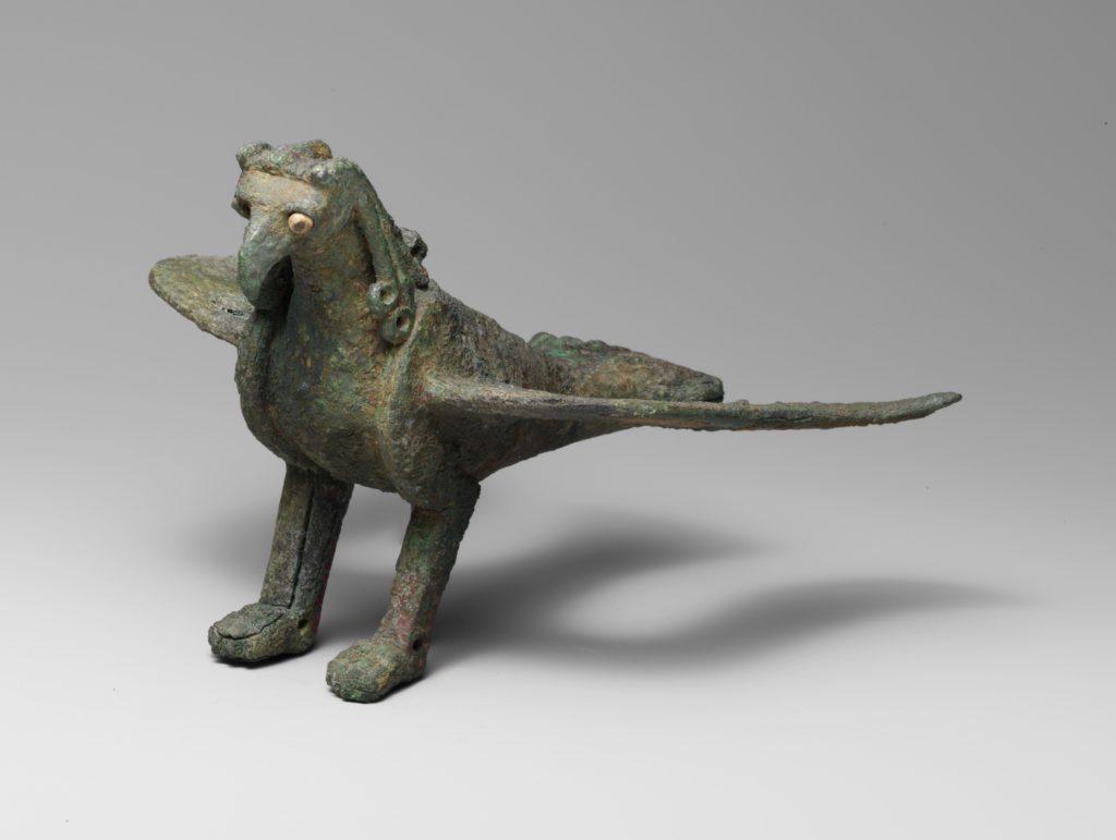 Bronze statuette of a bird of prey
