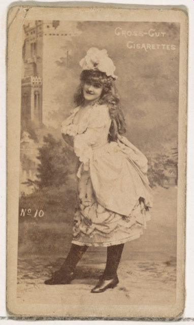 Card Number 10, from the Actors and Actresses series (N145-1) issued by Duke Sons & Co. to promote Cross Cut Cigarettes