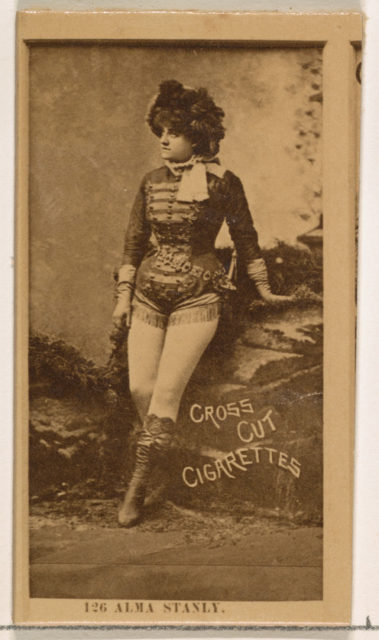 Card Number 126, Alma Stanley, from the Actors and Actresses series (N145-2) issued by Duke Sons & Co. to promote Cross Cut Cigarettes