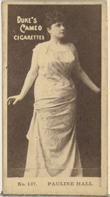 Card Number 137, Pauline Hall, from the Actors and Actresses series (N145-4) issued by Duke Sons & Co. to promote Cameo Cigarettes