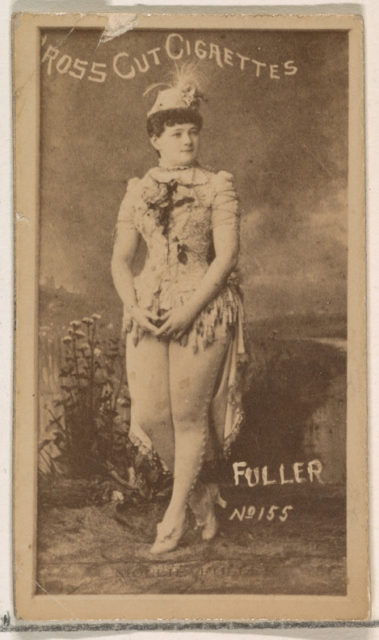 Card Number 155, Fuller, from the Actors and Actresses series (N145-1) issued by Duke Sons & Co. to promote Cross Cut Cigarettes
