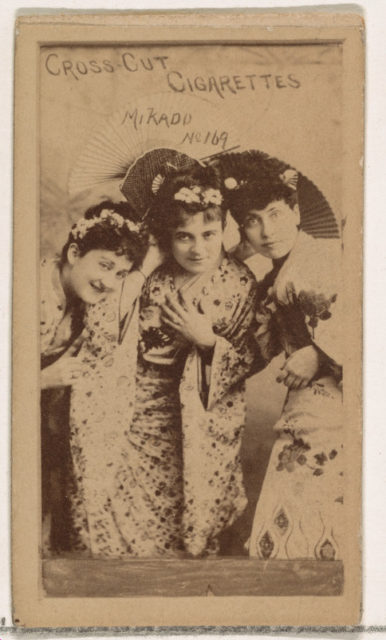 Card Number 169, Mikado, from the Actors and Actresses series (N145-1) issued by Duke Sons & Co. to promote Cross Cut Cigarettes