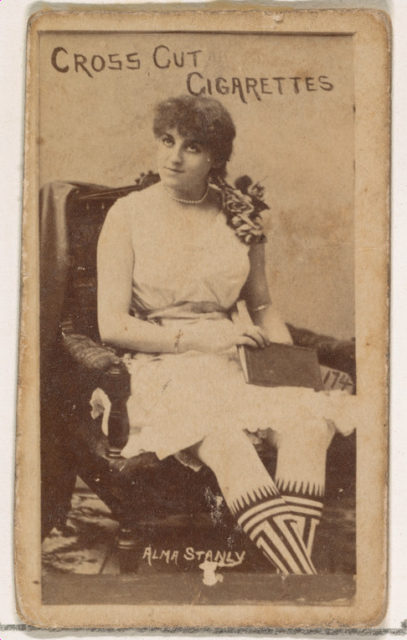 Card Number 174, Alma Stanley, from the Actors and Actresses series (N145-1) issued by Duke Sons & Co. to promote Cross Cut Cigarettes