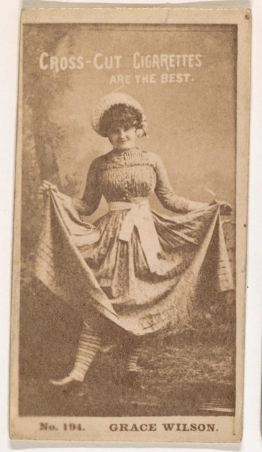 Card Number 194, Grace Wilson, from the Actors and Actresses series (N145-2) issued by Duke Sons & Co. to promote Cross Cut Cigarettes
