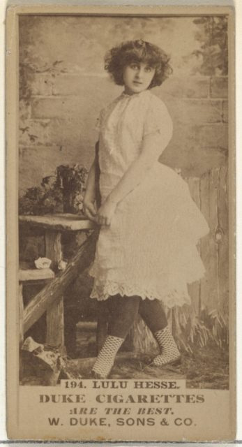 Card Number 194, Lulu Hesse, from the Actors and Actresses series (N145-7) issued by Duke Sons & Co. to promote Duke Cigarettes