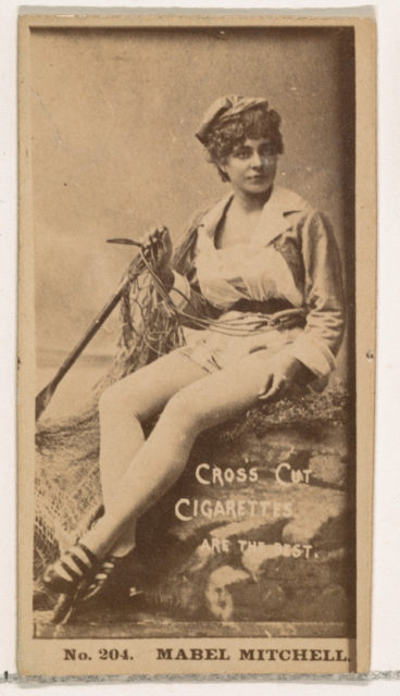 Card Number 204, Mabel Mitchell, from the Actors and Actresses series (N145-2) issued by Duke Sons & Co. to promote Cross Cut Cigarettes