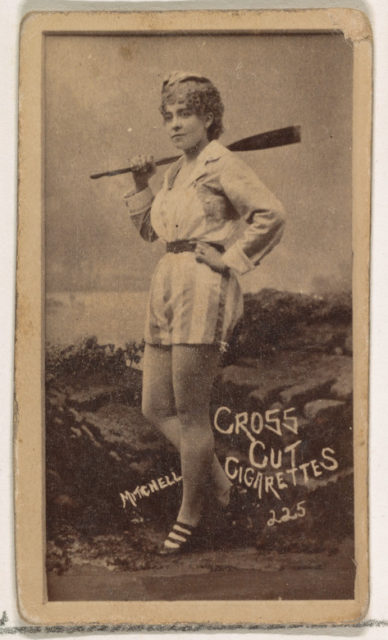 Card Number 225, Mitchell, from the Actors and Actresses series (N145-1) issued by Duke Sons & Co. to promote Cross Cut Cigarettes
