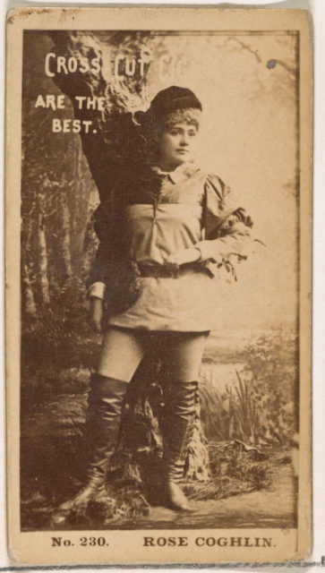 Card Number 230, Rose Coghlin, from the Actors and Actresses series (N145-2) issued by Duke Sons & Co. to promote Cross Cut Cigarettes