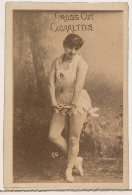 Card Number 50, from the Actors and Actresses series (N145-1) issued by Duke Sons & Co. to promote Cross Cut Cigarettes
