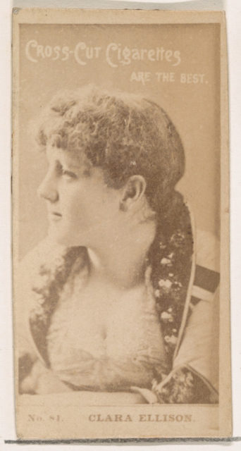 Card Number 81, Clara Ellison, from the Actors and Actresses series (N145-2) issued by Duke Sons & Co. to promote Cross Cut Cigarettes