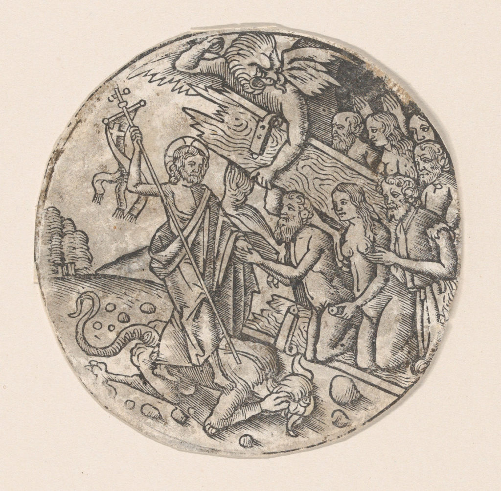 Christ in Limbo, a circular composition