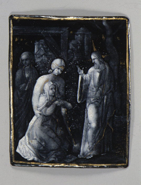 Christ Saying Farewell to His Mother (one of seven)