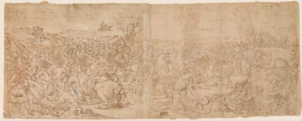 Copy after the Fresco with the Battle of Constantine in the Vatican Palace