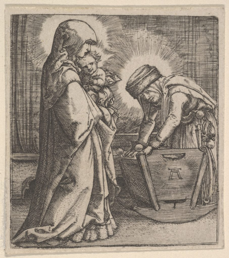 Copy of The Virgin and Child with Saint Anne at the Cradle