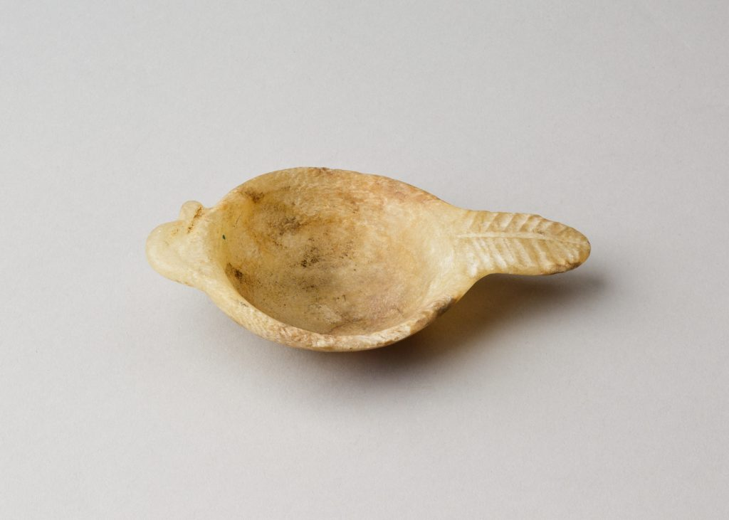 Cosmetic spoon with duck-head handle