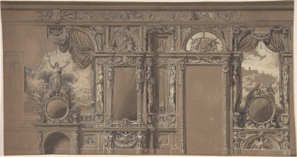 Design for a Heavily-Decorated Wall Elevation