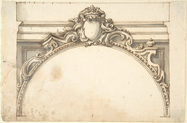 Design for an Arch Surmounted by a Cartouche with a Ducal Crown