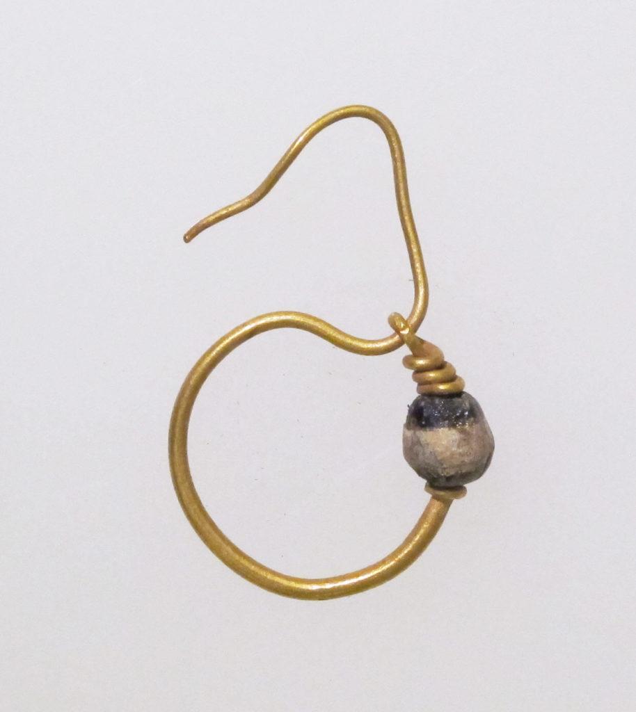 Earring, delta-shaped