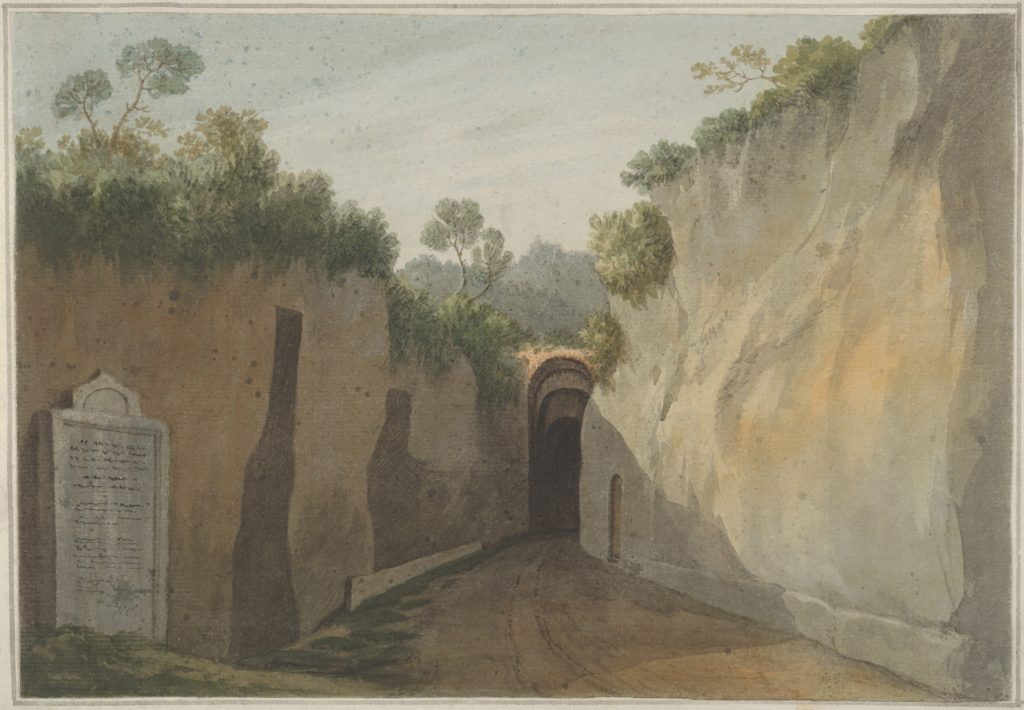 Entrance to the Grotto of Posillipo, Naples