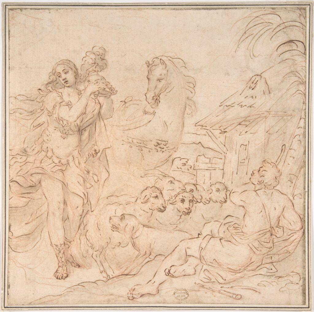 Erminia and the Shepherds (a scene from Torquato Tasso's Gerusalemme Liberata)