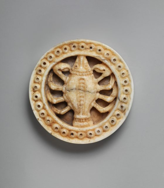 Game Piece with Zodiac Sign of Cancer or Scorpio