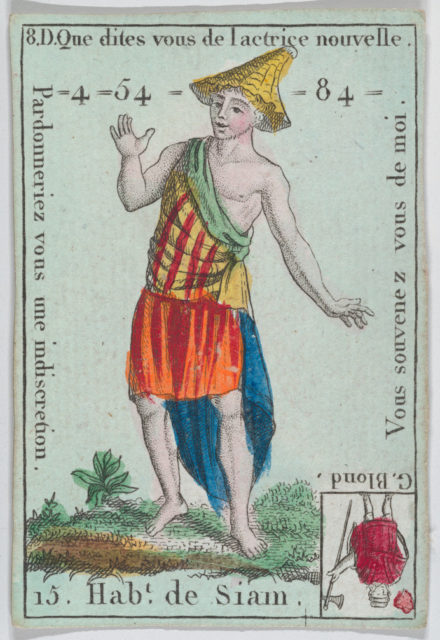 """Hab.t de Siam from playing cards """"Jeu d'Or"""""""