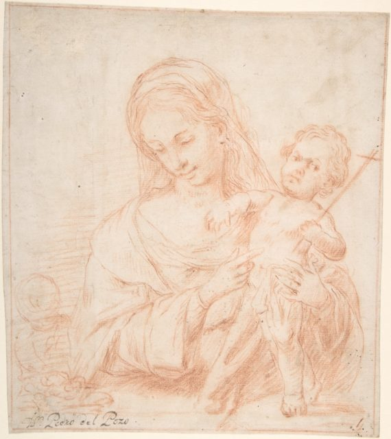 Half-length Virgin and Standing Child with Indications of a Young Saint John the Baptist at Left