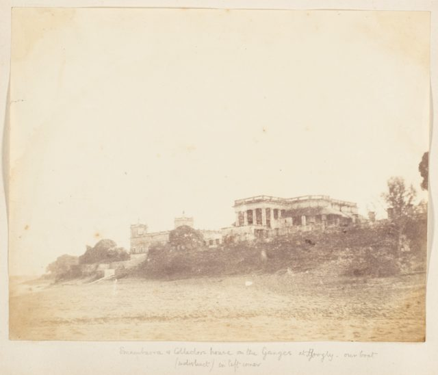 [Imambara and Collectors House on the Ganges, Hooghly]