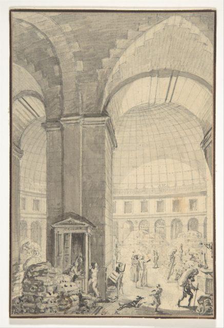 Interior of Halle aux Blés, Paris [The Corn Exchange]