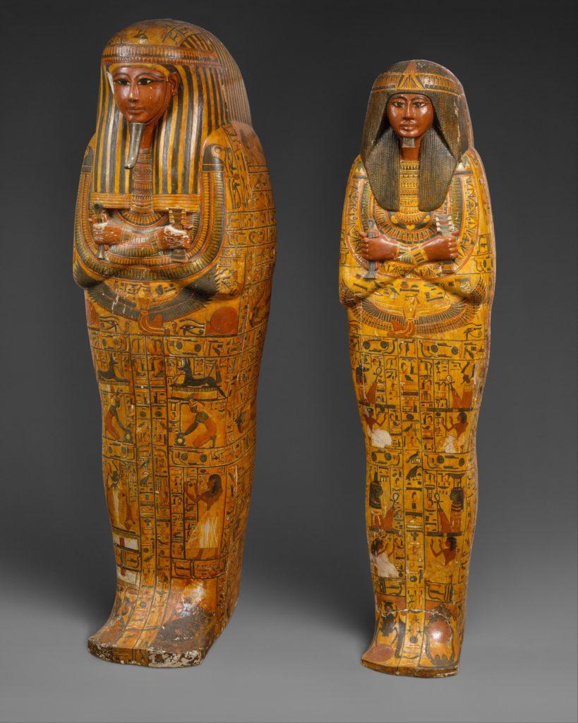 Khonsu's anthropoid coffins