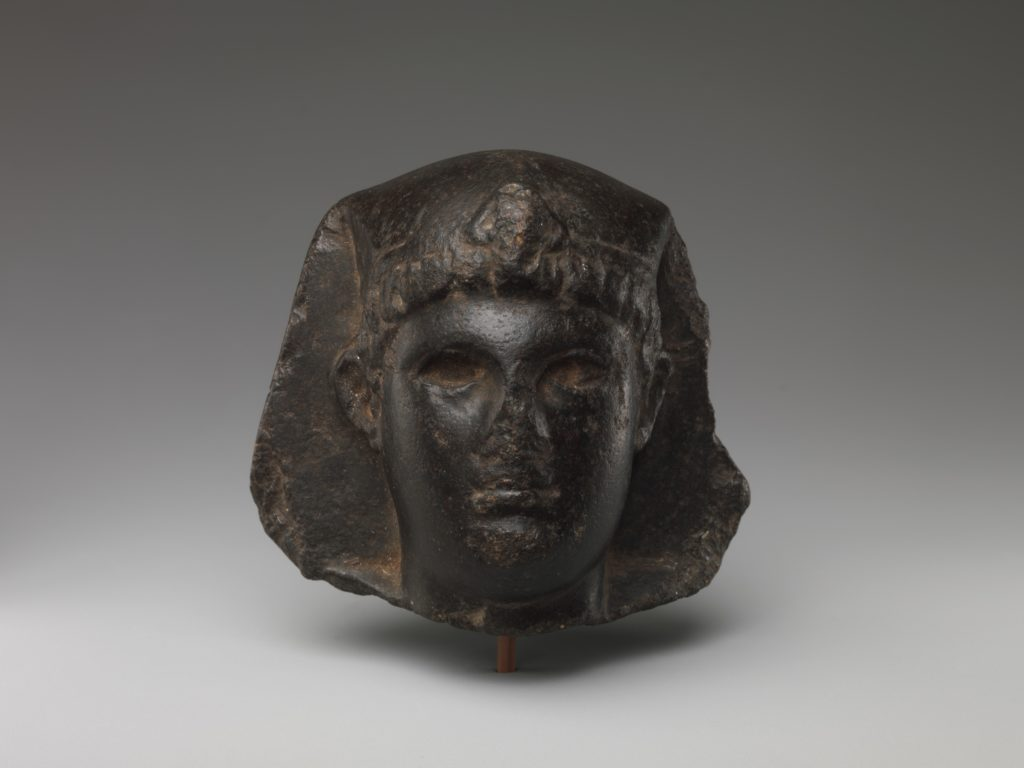 King's Head with Egyptian Headdress but Greek Hair and Features