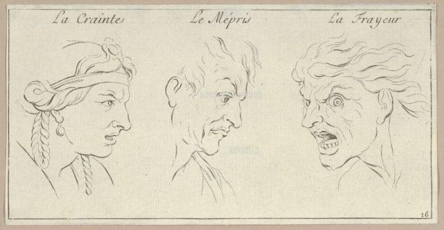 Le Crainte, Le Mépris, La Frayeur (from Caractères des passions, gravés sur les desseins de l'illustre Monsieur le Brun)