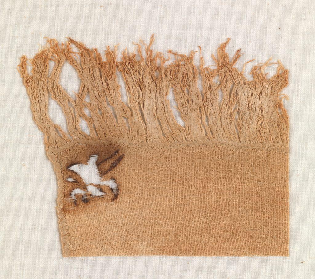 Linen mark, corner of sheet
