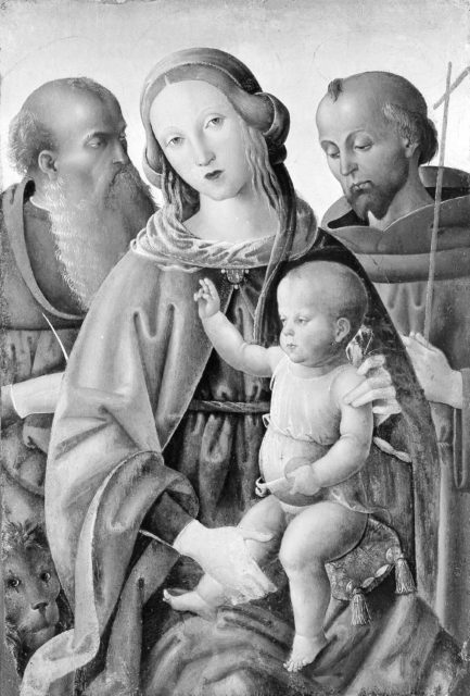 Madonna and Child with Saints Jerome and Francis