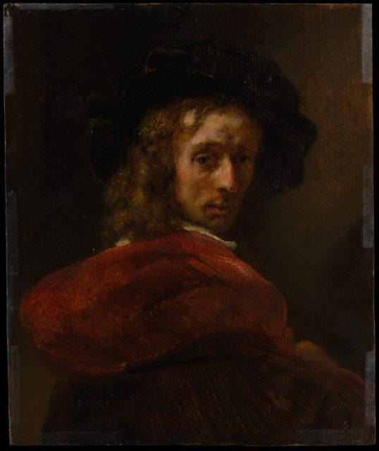 Man in a Red Cloak
