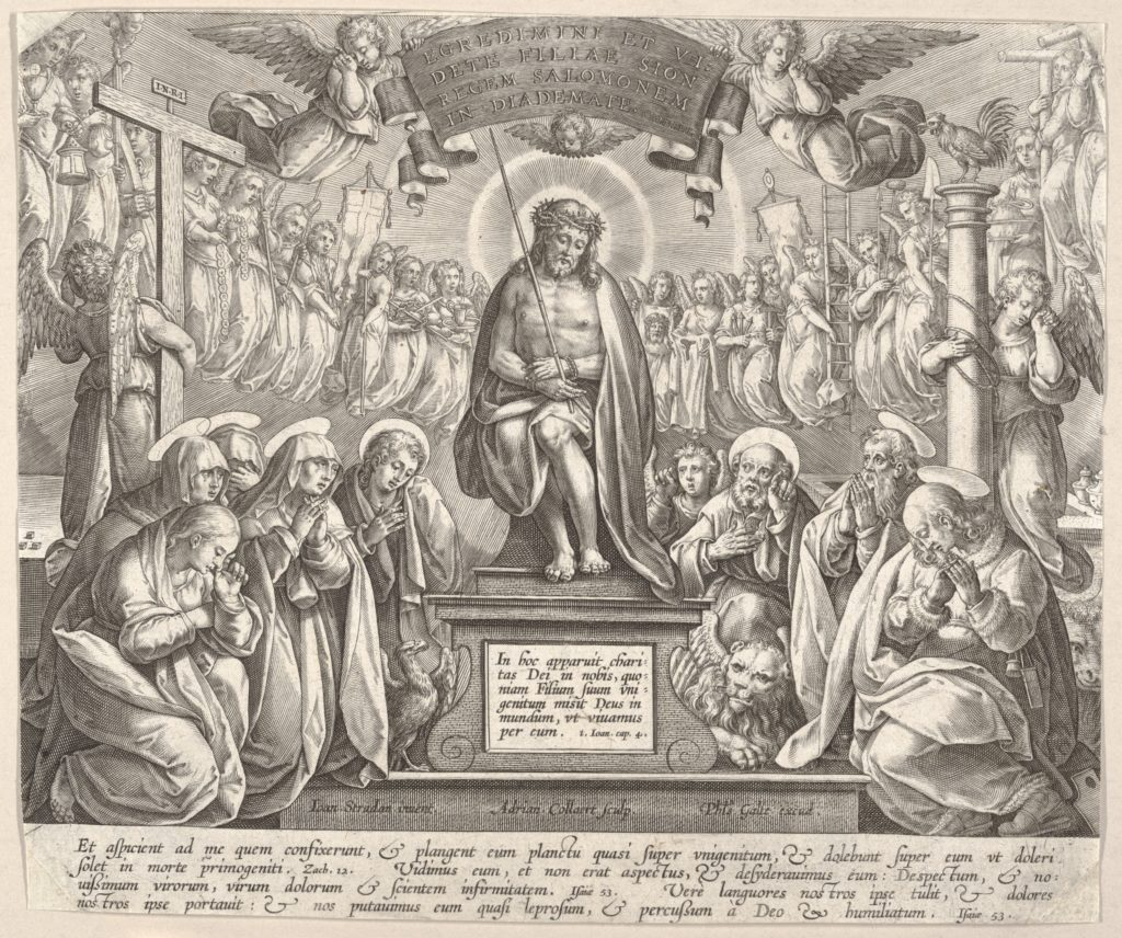 Man of Sorrows with the Three Marys and the Evangelists