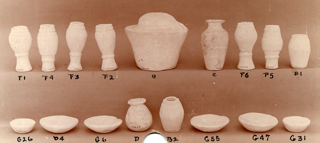 Model tableware (part of set of 71 objects)