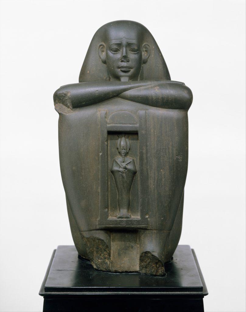 Naophorous Block Statue of a Governor of Sais, Psamtik[seneb]
