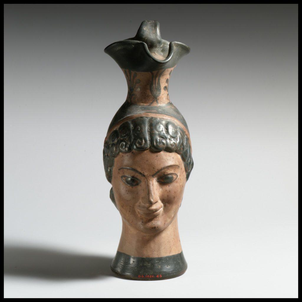 Oinochoe in the form of a woman's head