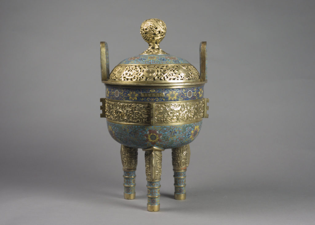 One of a Pair of Incense Burners