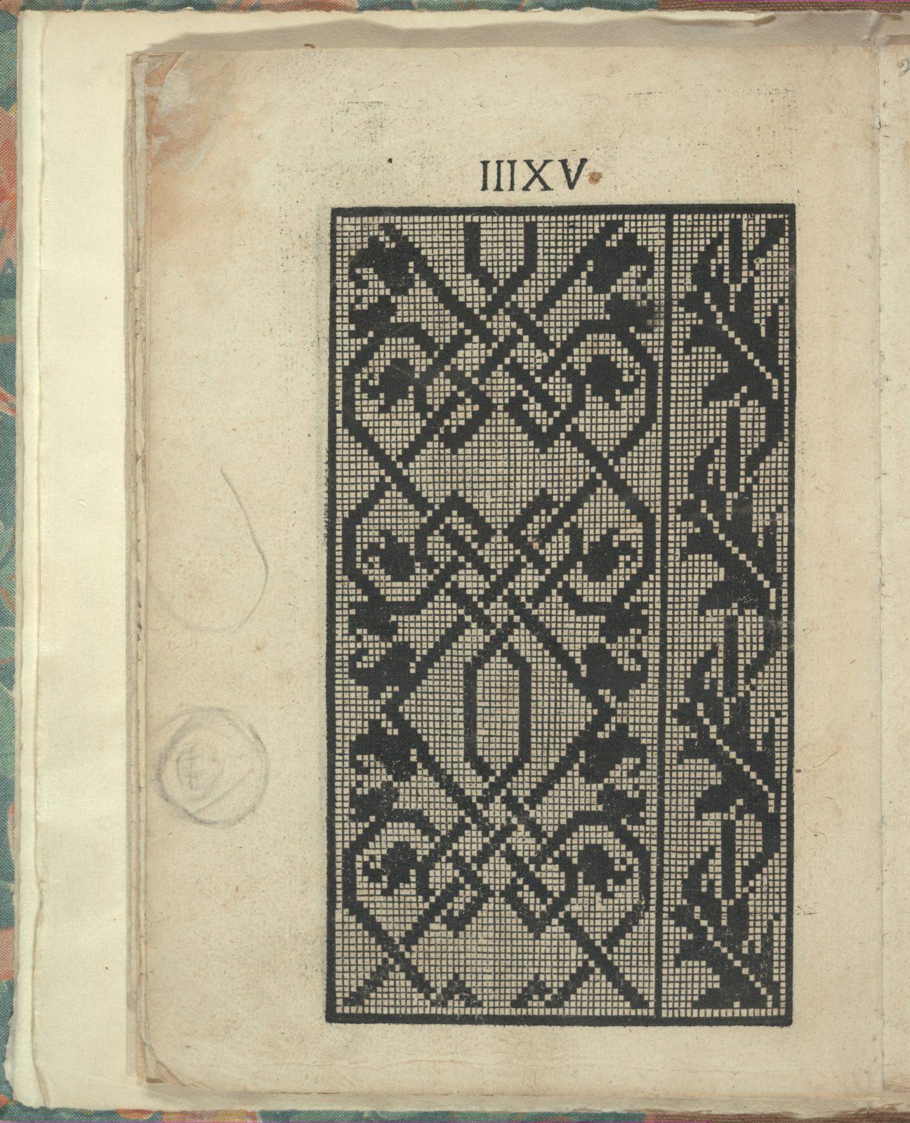Opera Nova Universali intitulata Corona di racammi, page 20 (verso)
